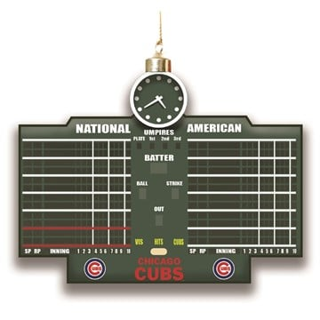 Scoreboard Ornament, Chicago Cubs